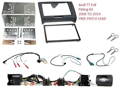 CTKAU03 AUDI TT 2006 to 2014 COMPLETE DOUBLE DIN FITTING FIT FASCIA ADAPTER CAR