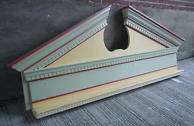 Large 8' long 3' high Detailed Painted Exterior Architectural Wood Pediment (#2)