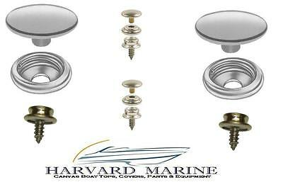PRO Grade Boat Marine Canvas Cover STAINLESS STEEL SNAP CAP SOCKET & STUD KIT