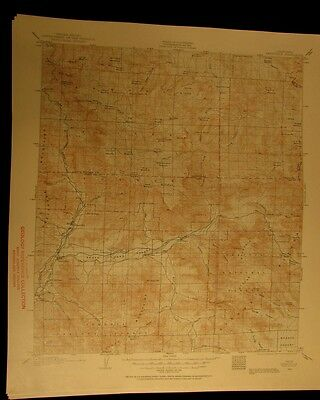 Kernville California 1955 vintage USGS Topographical chart map