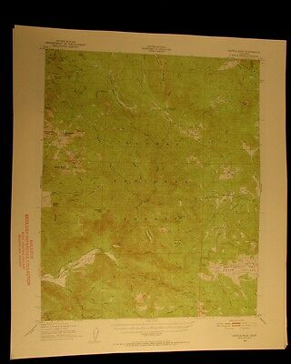 Kettle Rock California 1956 vintage USGS Topographical chart map