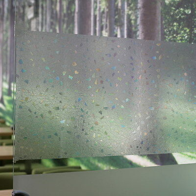 Geometric Frosted Privacy Glass Bathroom Window Door Sticker Film Decor 45x100cm
