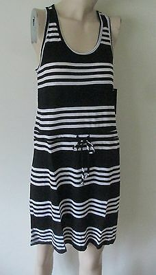 94bbc81442 NWT Womens Swimsuit Cover-Up Dress Apt. 9 Black White Racerback Rayon S
