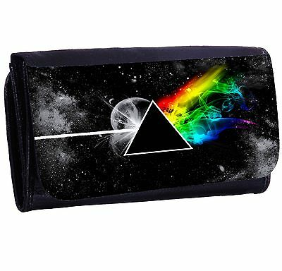 Stylized The Dark Side Of The Moon Bi-fold Zipper Bill & Card Holder Long Wallet