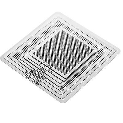 New 8pcs Universal BGA Direct Heat Stencil Reballing Acessories 0.35-0.76mm D5I4