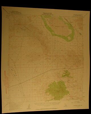 Clark Mountain Nevada California 1960 vintage USGS Topographical chart map