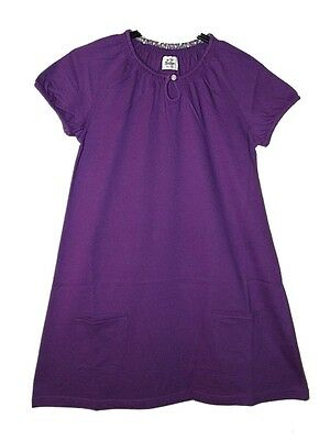 FAB NEW GIRLS EX BODEN COTTON T SHIRT DRESS TUNIC RED PURPLE GREY Age 2-14 years