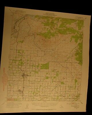 Clovis California 1955 vintage USGS Topographical chart map