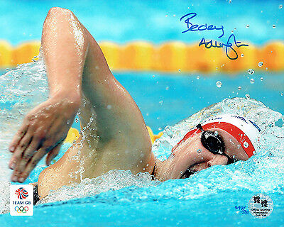 Rebecca ADLINGTON SIGNED Autograph Team GB Olympic Photo B AFTAL COA London 2012