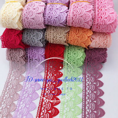 1 Yard,Crochet Lace Trim Ribbon For Dress Embroidered Sewing Craft Decor FL136