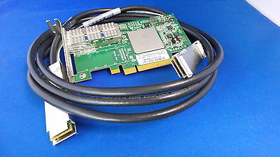QLogic QLE7340 + 0.5M  (HALF) cable Infiniband HBA 40Gbps PCI Express Gen2 x8
