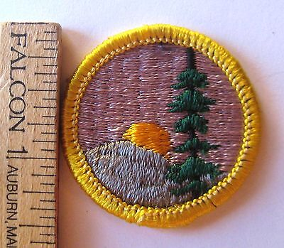 Vintage 1963-1980 Girl Scout Cadette HIKER BADGE Mountain Sunset Patch CHOOSE