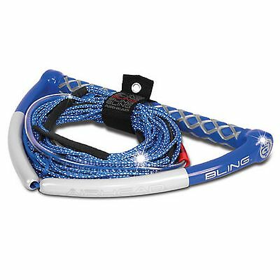 Wakeboard Rope Bling Spectra 75 Foot Rope 4 Take Offs No Stretch Finger Protect