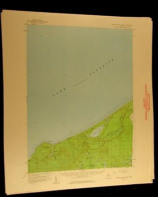 Grand Portal Point Michigan 1959 vintage USGS Topographical chart map