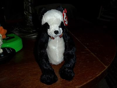 easton panda bear   TY ATTIC TREASURE   RETIRED NEW 8 INCHES