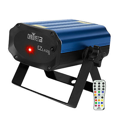 Chauvet DJ EZ Laser RB Compact Battery Operated Red & Blue Laser w/ IRC-6 Remote