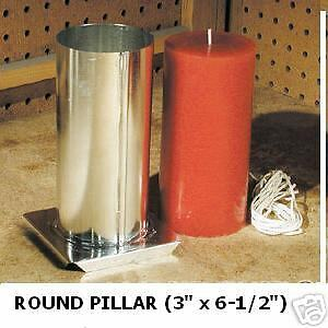 Round Pillar Candle Mold (3 inches x 6-1/2 inches Tall)