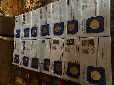 Massive First Day Cover Coin And  Stamp Collection Presidents 1983 Rare Find Med