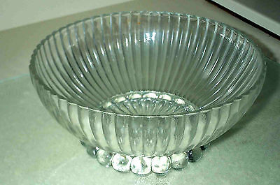 PUNCH BOWL Glass Party Dish Bar Coctail Mix Ice Drink Crystal Style