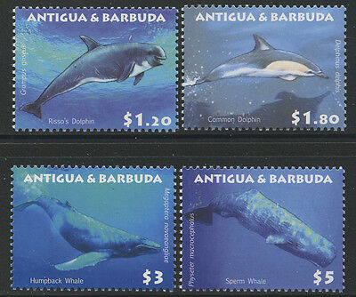Antigua 2010 Whales & Dolphins set Sc# 3077-80 NH