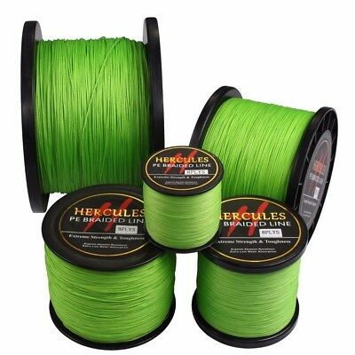 Hercules PE Dyneema Fluorescent Green/Yellow Spectra 8S Pro Braided Fishing Line