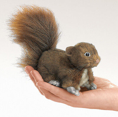 *NEW* PLUSH SOFT TOY Folkmanis 2735 Mini Red Squirrel Finger Puppet 10cm