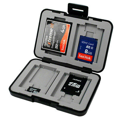 AntiShock & Water Resistant Memory Card Case for SD, Micro SD and Compact Flash