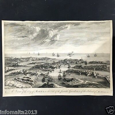 1770 A view of the city of Malta, on the side of the Jesuits Garden#002350