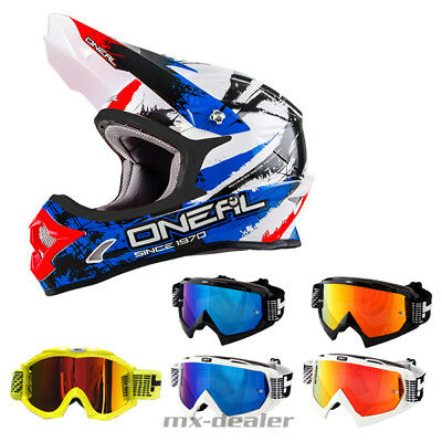o 39 neal 3series shocker blau helm crosshelm mx motocross. Black Bedroom Furniture Sets. Home Design Ideas