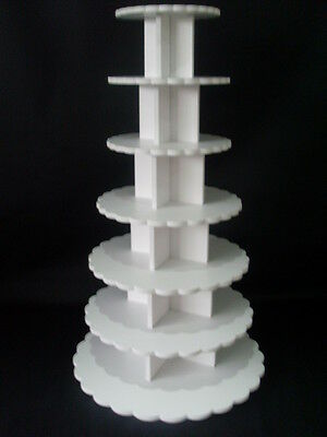 CHUNKY 8MM wedding birthday party cupcake cup cake stand 7 tier strong petal