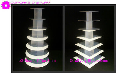 2 x 7 tier round 8MM wedding birthday party cupcake cup cake stand strong