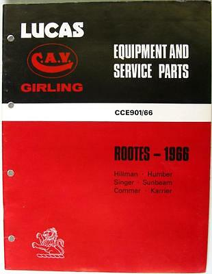 Lucas ROOTES - Car & Commercial Equipment & Spare Parts - 1966 - CCE901/66