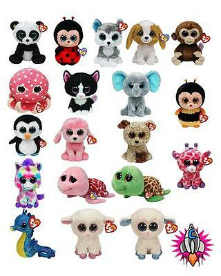 Ty Beanie Boos Boo Babies Soft Toy Plush Wishful Rootbeer Coconut Waddles Bnwt