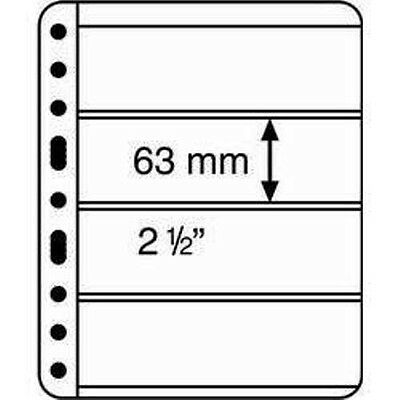 5 CLEAR VARIO STAMP STOCK SHEETS CLEAR SIDED, 4 STRIPS - (195mm x 58mm STRIPS)