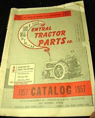 Vintage Central Tractor Parts 1957 Catalog Farm Farming Equipment John Deere Too