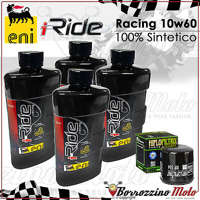 KIT TAGLIANDO OLIO ENI i-RIDE 10W60 RACING MV AGUSTA F4 1000 2005 2006 2007 >