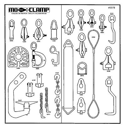 Mo Clamp 5079 #10 Board & Hooks (Board Only)