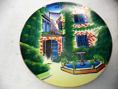 """Courtyard Little Theater New Orleans Colorful Collectable Decorative Plate 8"""""""