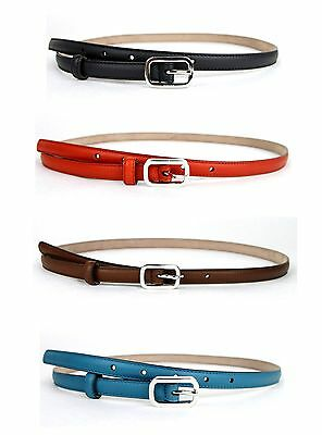 cd9673dc28a New Authentic Gucci Women s Leather Skinny Belt w Silver Square Buckle  354659