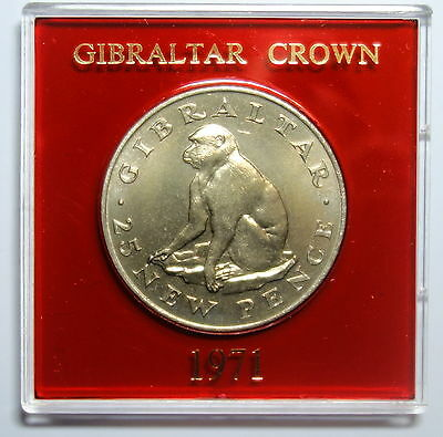 Gibraltar  Crown 1971. Barbary Ape. Free Shipping