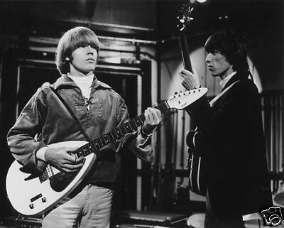 Rolling Stones Brian Jones teardrop guitar 8x10 Photo