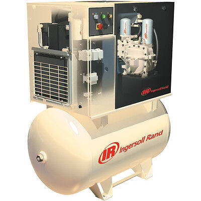 Rotary Screw Compressor & Air System - 230 Volts - 1 Phase - 5 HP - 18.5 CFM