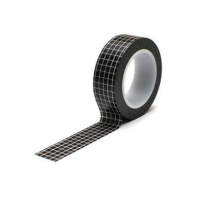 Queen & Co Trendy Washi Tape! 10 yards! ~Grid Black~