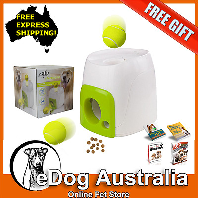 All For Paws Interactive Fetch N' Treat Dogs Ball Drop & Play Toy Game