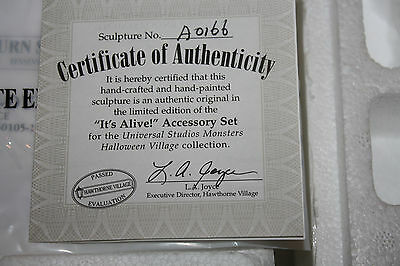 "Hawthorne Village Universal Monsters ""ITS ALIVE"" accessory set rare!"