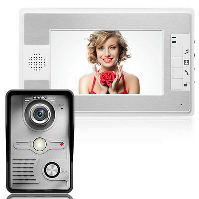 "New 7"" Color TFT LCD Video Intercom System Night Vision Camera For Home Security"