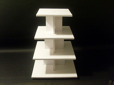 CHUNKY 8MM wedding birthday party cupcake cup cake stand 4 tier square strong