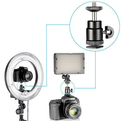 Neewer Professional Mini Ball Head w/ Lock and Hot Shoe Adapter Camera Cradle