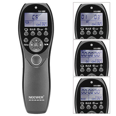 Neewer NW-880/N3 LCD Display Shutter Release Wired Timer Remote for Canon 5D 7D