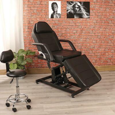 Black Electric Beauty Therapy Salon Couch Massage Chair Treatment Tattoo